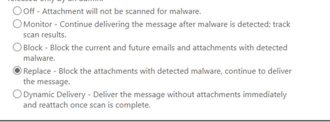 interne Mails von ATP Scanning ausnehmen