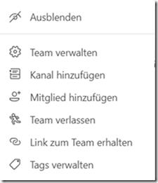 Wie ist das mit Teams, Teammitgliedern, Einladungen zu Videokonferenzen und so ?