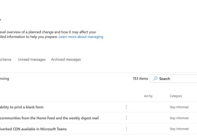 Microsoft 365 Nachrichten (ordentlich) verwalten